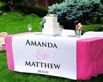 Custom Table Runner for Weddings, events, tradeshows , birthday parties and more