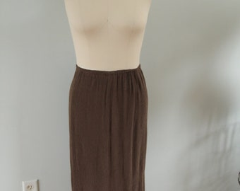 1970's Brown Maxi Skirt