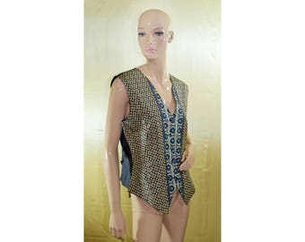 Vintage Renard women vest 100% silk