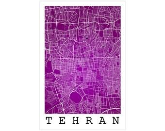 Tehran Street Map, Tehran Iran, Modern Art Print, Tehran Poster, Tehran Gift Idea, Tehran Art, Tehran Map, Tehran Wall Art, Office Decor