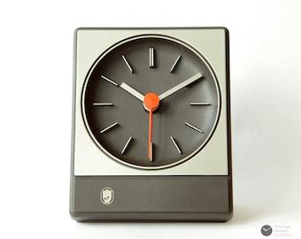 1970s AACHEN Germany BAUHAUS Desk Table CLOCK - Mid Century Modern Panton mcm 70s