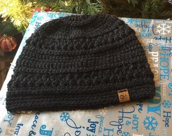 Men's textured beanie