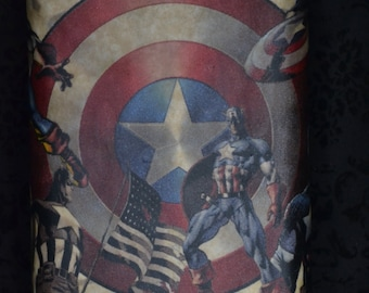 Stainless Steel Comic Book Flask - 8 oz ( Captain American or Black Widow )