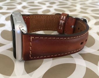 Apple Watch Band 38mm Leather Apple watch Strap iwatch band Personalized Gift Leather Anniversary Gift for Men Mothers Day Gift for Women