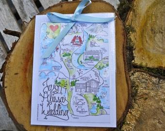 Customized Wedding Map