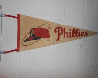 Vintage 1950s 1960s Philadelphia Phillies Pennant