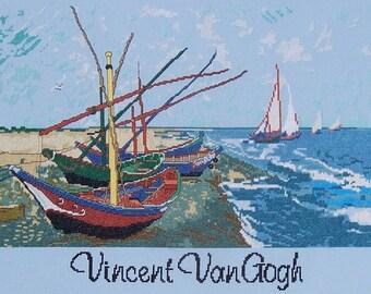 Van Goghs,  Fishing Boats on the Beach--LB99107