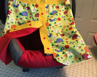 Handmade Infant Child Car Seat Carrier Cover
