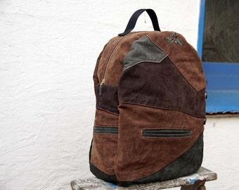 Leather Backpack - Backpack Purse - Recycled Leather - Rucksack Bag - Bavarian Rucksack