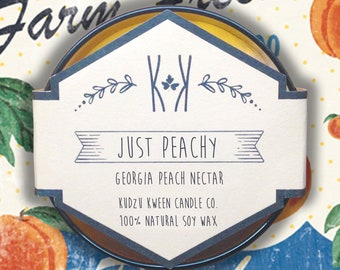 """SOY CANDLE - """"Just Peachy"""" - Georgia Peach Nectar"""