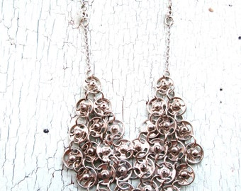 Delicate Chainmaille Necklace - Repurposed Vintage