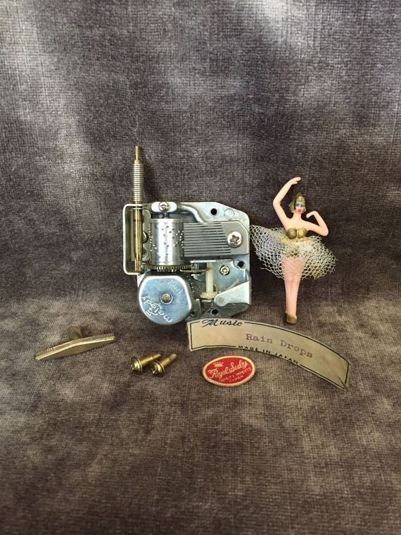 Vintage ballerina music jewelry jewellery box repair parts