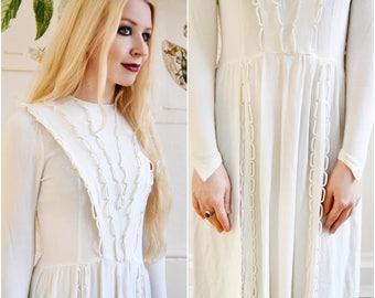 Original Vintage Dress, size 32, 1920, XXS, hippie boho Dress / Wedding Dress, bridal