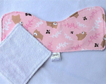 Baby Burp cloth set, Teddy bear cloths, Burpies, Baby facecloth, Baby shower gift, New baby gift set, Terrycloth burp cloths, Baby girl gift