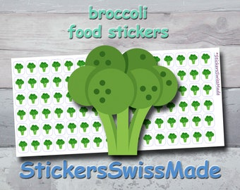 PLANNER STICKER || broccoli || food || vegetable || small colored icon | for your planner or bullet journal