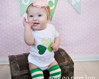 Baby Girl St Patricks Day Shirt - St Patricks Day Outfit - St Patricks Day shirt - Baby Girl Shamrock Shirt