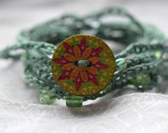 Wrap Crochet Beaded Bracelet
