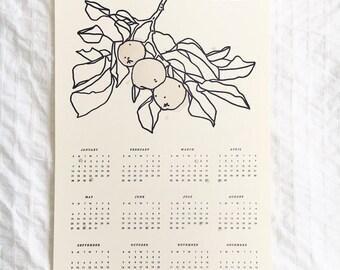 2018 Letterpress Calendar