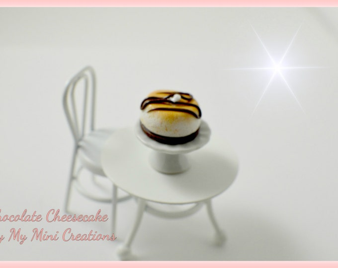 Handmade Polymer clay Chocolate Cheesecake , Miniature food, miniature food jewelry