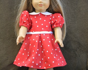 American Girl Doll Collared Dress