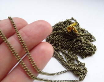 5M Link-Soldered Copper Curb Chains Antique Bronze 3 x 2mm - CHN21