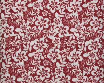 Cotton Fabric, Cotton, Fabric, Red, White, Quilting, Quilting Fabric, Sewing Fabric, Crafting, By the Yard, Floral, EEECrafter