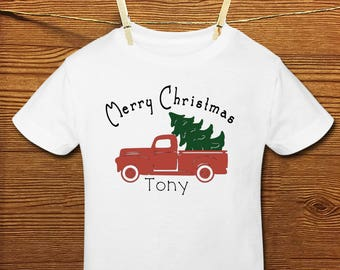 Christmas Red Truck Shirt/Onesie