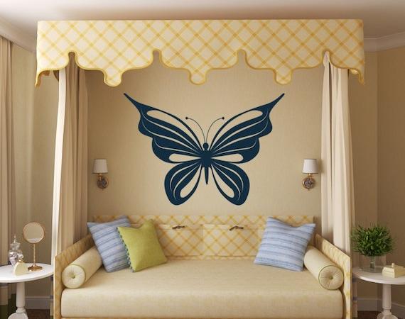 Large Butterfly Decal Vinyl Wall Art Girls Butter Fly wall decals