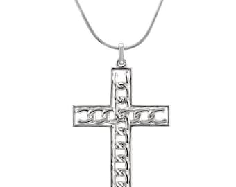 Sterling Silver Freedom Cross Necklace