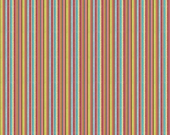 Happy Flappers Stripe Brown by Kelly Panacci for Riley Blake, 1/2 yard