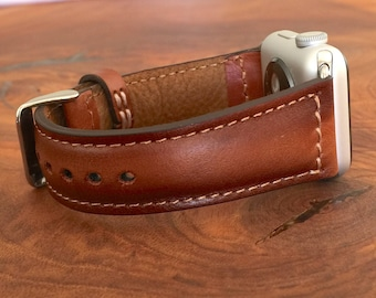 Apple Watch Band 38mm Women Apple Watch Strap Leather iwatch band 42mm 3rd Anniversary Gift for Men Personalized Gift for Him Gift for Wife