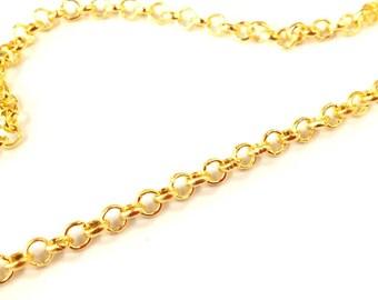 ❤ X 4 m chain links round 3.2 mm ❤