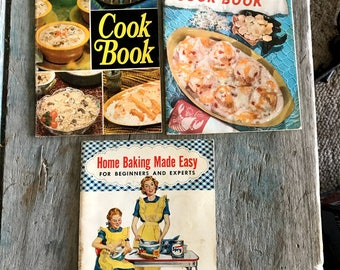 Vintage Cookbook Collection, Riceland Rice 1950s and 1960s Cookbooks Set of 3