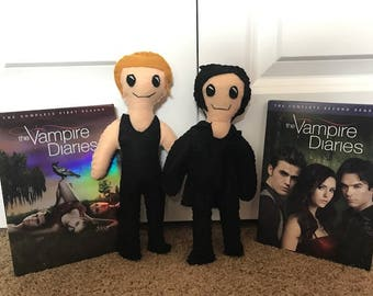 Stefan and Damon Bookshelf Buddies