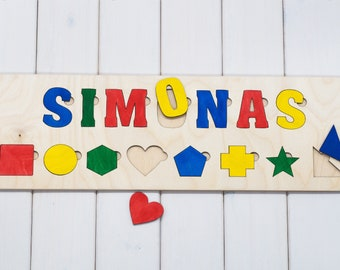 Custom name puzzle personalized baby gifts wooden puzzle custom name puzzle wooden puzzle personalized baby gifts baby name gifts baby negle Images