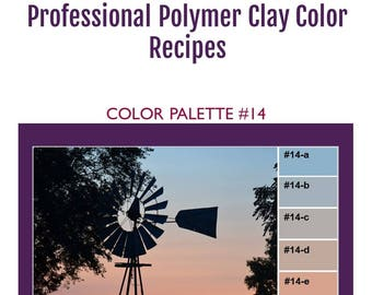FIMO Professional Polymer Clay Color Mixing Recipes for Color Palette #14
