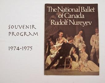 Vintage The National Ballet of Canada with Rudolf Nureyev 1974-75 Season Souvenir Program