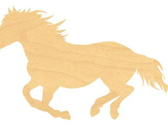 Horse Wood Cutout Small Sizes Up 12 Inches  -  Wall Decor Projects or Other Use