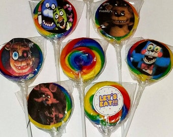 FNAF Swirl Lollipops 12pcs.