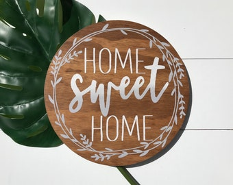 Home sweet home | round sign | home sweet home sign | home | home sweet home rustic sign | home sign |round home sweet home sign | ombre