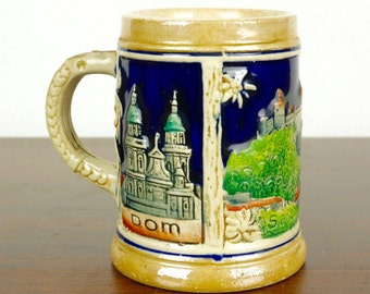 Vintage Salzburg Beer Stein Tankard Wekara 5507 100ml/3.3 oz from 70s