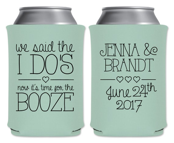 Wedding Can Coolers Beverage Insulators Custom Wedding Favors