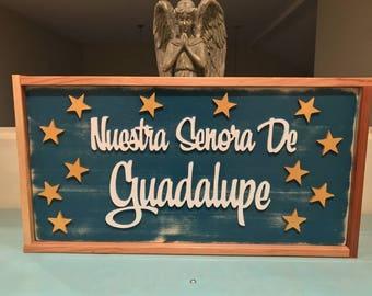 Nuestra Senora de Guadalupe  1ft x 2ft
