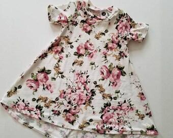 Blush Dress Vintage Floral T Shirt Baby
