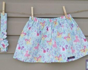 READY-to-go/READYTOGO - skirt and headband - all - girl - unicorns / Skirt and headband - set - girl - Unicorns