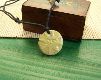 Ceramic jewelry and Earth child necklace