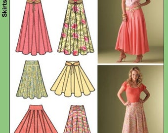 Simplicity Pattern 4188 Misses Skirts and Belt