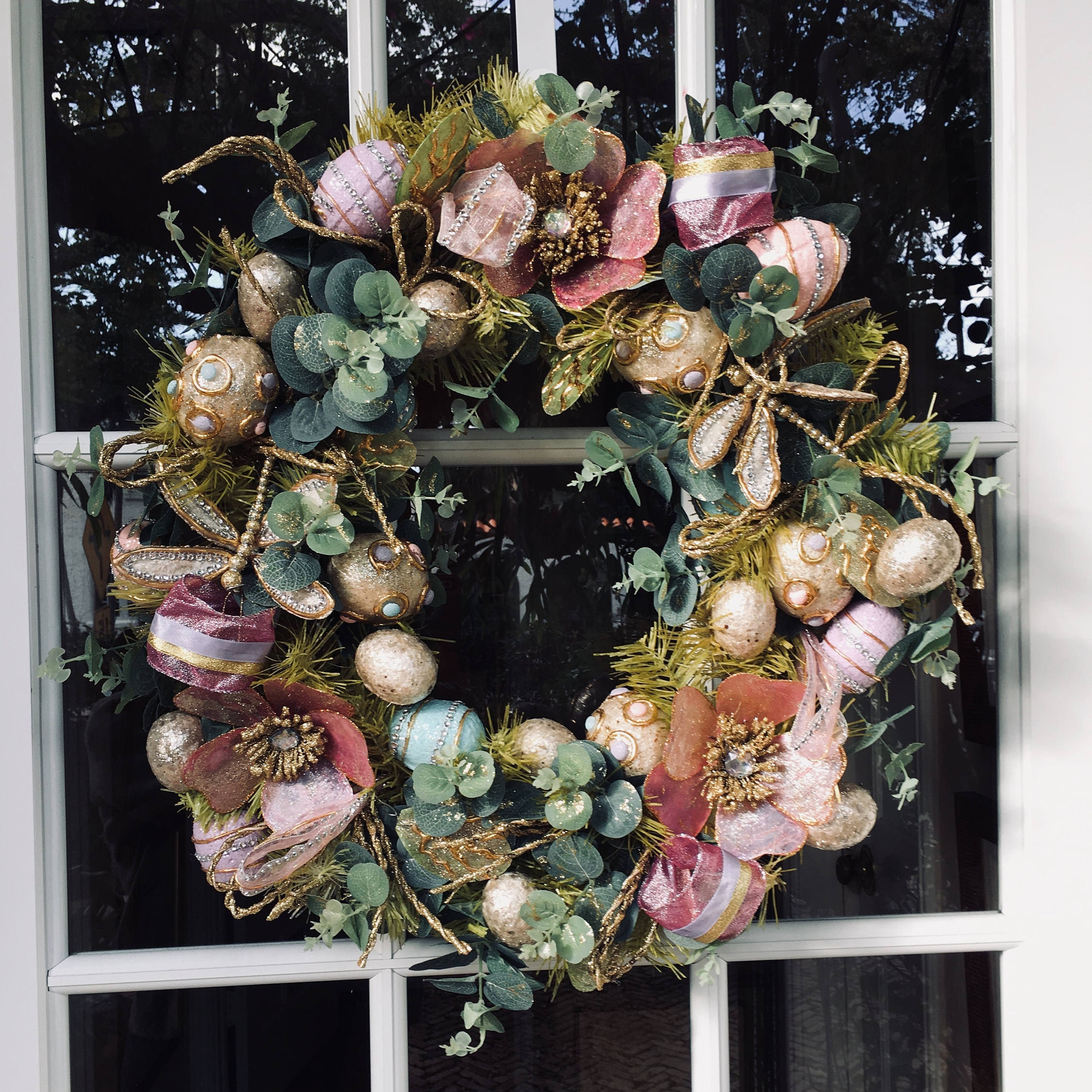 Easter, Easter Wreath, Easter Grapevine Wreath, Easter Decoration ...