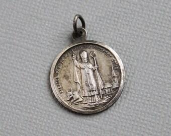 RARE Saint Etton Patron of Dompierre sur Helpe / Saint Zeal / Antique French Religious Medal
