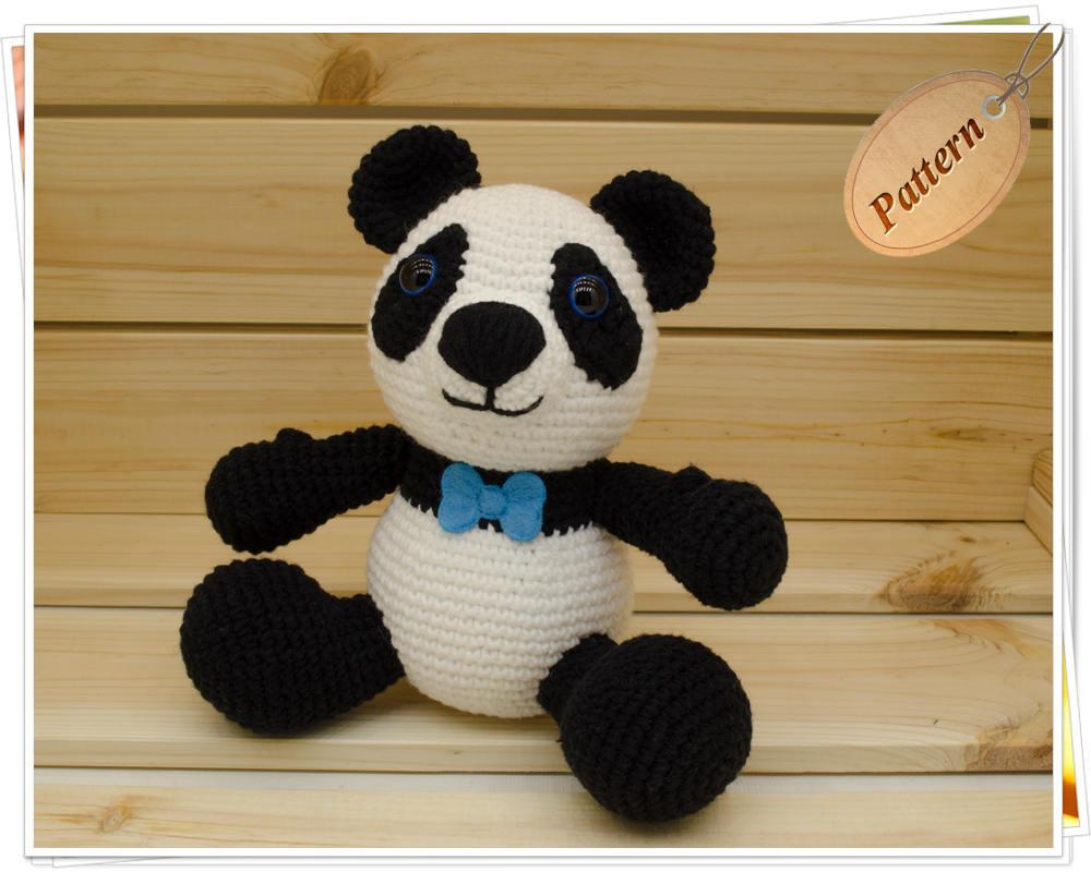 Crochet Panda Amigurumi Panda Pattern Panda Stuffed Toy Tutorial ...